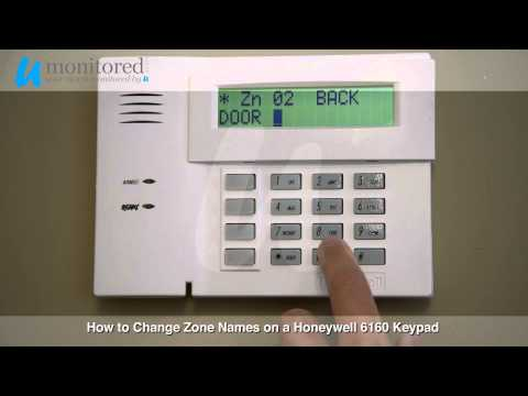 How to change the zone names on your Honeywell 6160 Alarm Keypad