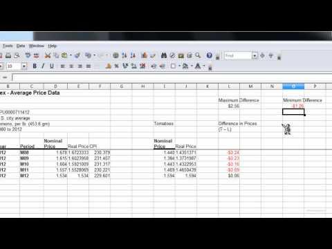 Investigating Real & Nominal Dollars Part 3 (Using max, min, abs, average)