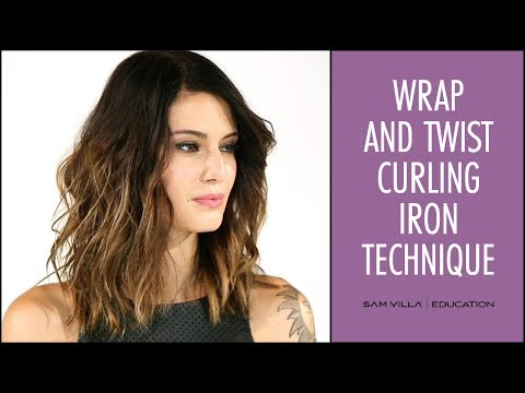 Wrap and Twist Curling Iron Technique