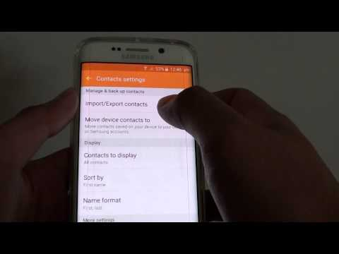 Samsung Galaxy S6 Edge: How to Remove Duplicate Contacts in Phone Book