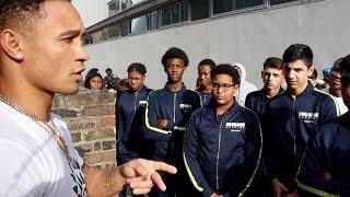 """INSPIRATIONAL! - """"YOU CAN BE ANYTHING YOU WANT!"""" REGIS PROGRAIS TELLS HACKNEY BOXING ACADEMY CLASS"""