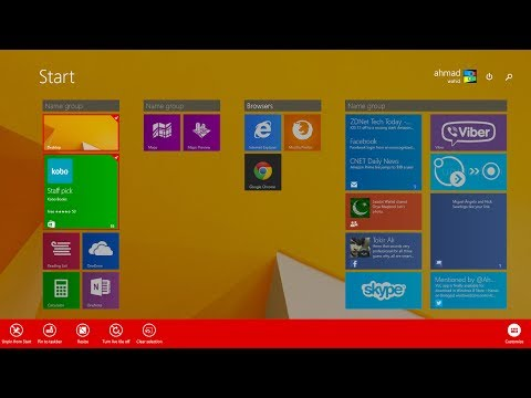 Windows 8.1 Update 1: How to use/bring app bar instead of contexual menus on Start Screen