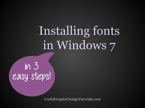 How to Install a Font Using Windows 7