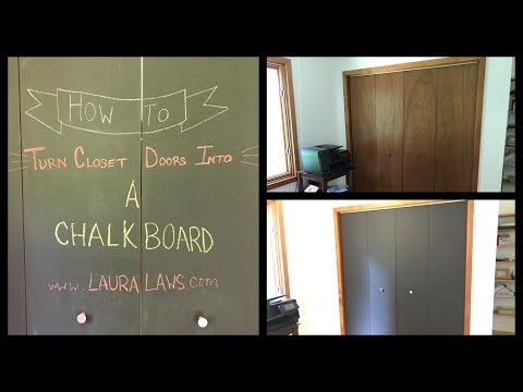 How to Turn Closet Doors into a Chalkboard