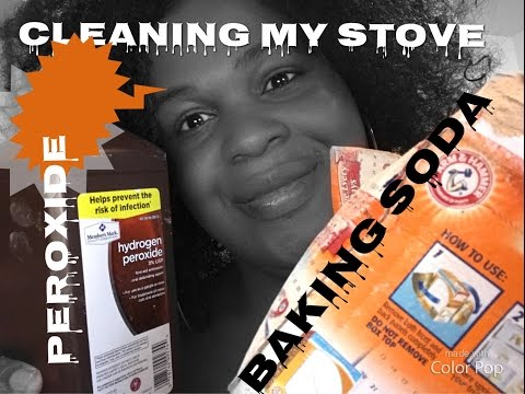 How to Clean stove for peroxide and baking soda