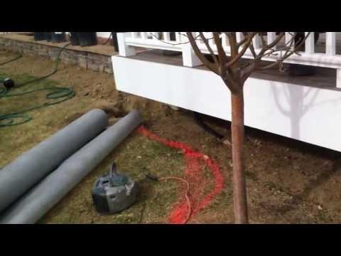 Installing composite lattice Installing lattice under a deck