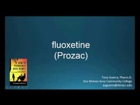 (CC) How to Pronounce fluoxetine brand name Prozac Backbuilding