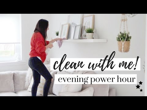 CLEAN WITH ME 2018 | RELAXING NIGHT TIME CLEANING | POWER HOUR