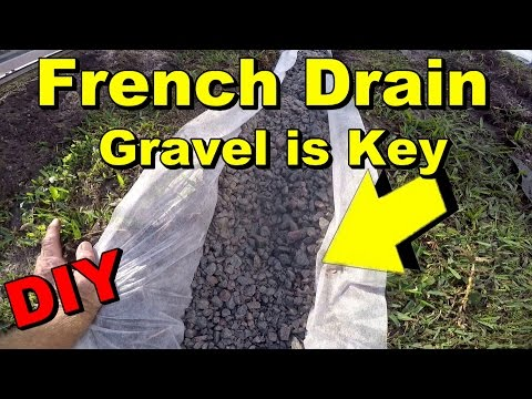 French Drain to Sump Pump, Gravel, Perforated Pipe, DIY, Backyard Flood