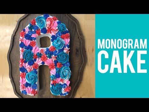How to Make a Monogram Cake