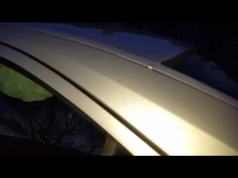 Unclog sunroof drains on a volvo s60