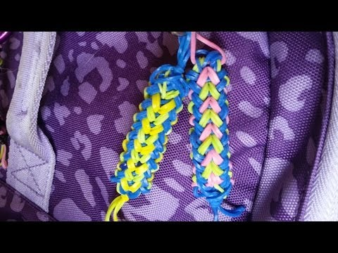 HOW TO MAKE RAINBOW LOOM BACKPACK TAG BASKET WEAVE PATTERN
