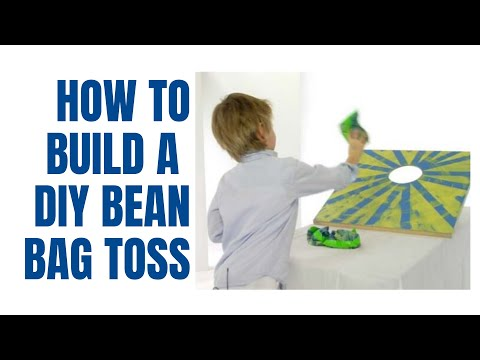 How to build a beanbag toss game