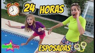 24 HORAS ESPOSADAS!! PASO UN DÍA ENTERO ESPOSADA EN VACACIONES