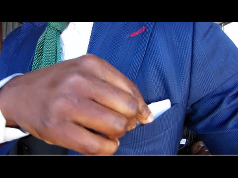 Mens Style - How To Keep Your Pocket Square from falling in