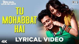 Tu Mohabbat Hai Lyrical - Tere Naal Love Ho Gaya | Atif Aslam, Monali, Priya | Riteish, Genelia