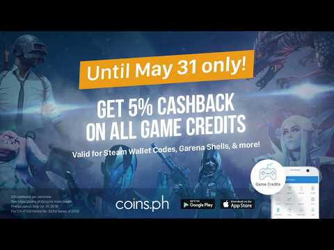 Get 5% Cashback on Game Credits with Coins.ph!