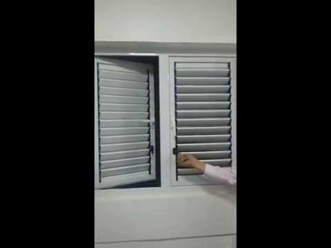 Aluminium Casement With louver window