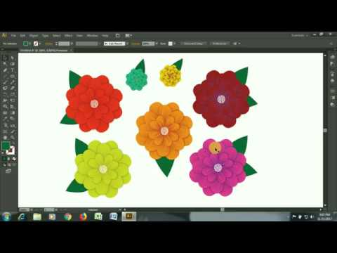 Illustrator Flower | Flower making in adobe illustrator cs6