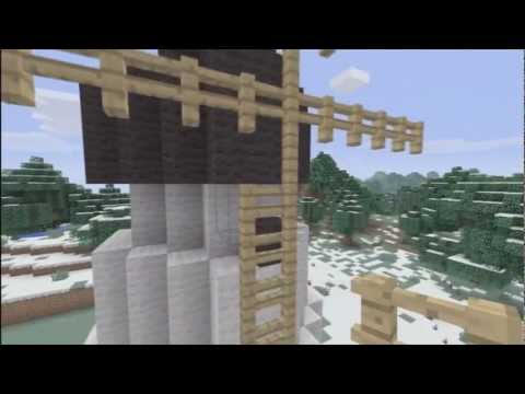 How To Build A Windmill - Minecraft Xbox 360 Edition