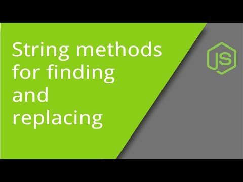 String Methods for Find and Replace