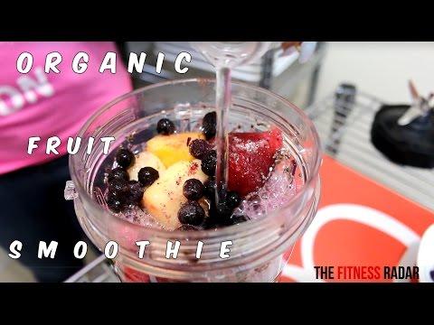 ORGANIC FRUIT & SELTZER WATER SMOOTHIE RECIPE WITH THE NUTRI NINJA