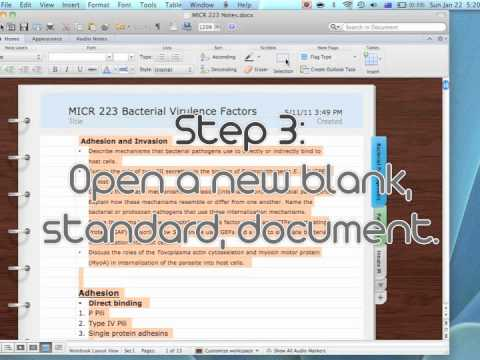 StudySpace- Word notebook preparation.m4v