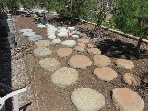 How To Make Fake Rock Stepping Stones,THE CONCRETE POUR