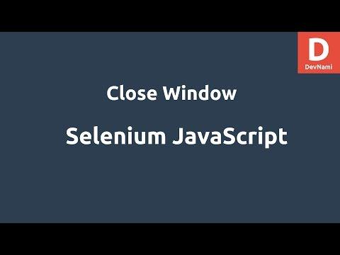 Selenium Javascript Close Browser