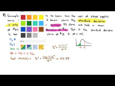 4.3 Hypothesis Testing a Single Variance