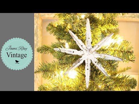 DIY Christmas Tree Star | Easy Holiday Craft