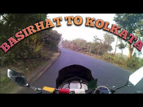 Basirhat to Kolkata|Road trip via basanti highway motovlog| pulsar as 150|