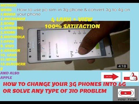 how 3g phone convert to 4g & use jio sim