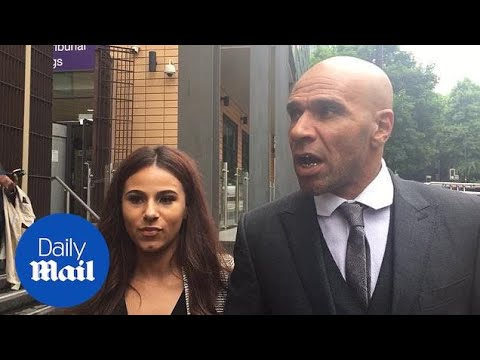 'Sorry!' Goldie leaves court after being fined for assault - Daily Mail