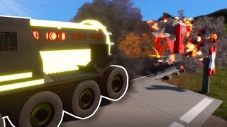 GIANT DRILL TRIES STOPPING THE TRAIN! - Brick Rigs Multiplayer Gameplay - Lego Roleplay