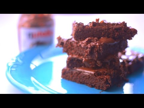 Eggless Nutella Brownies Recipe | Quick and Easy Dessert Recipe