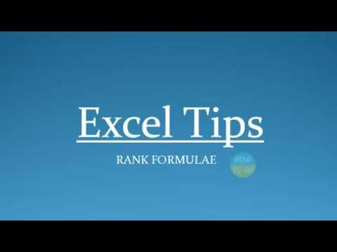 How To Use Rank Formlae in Excel