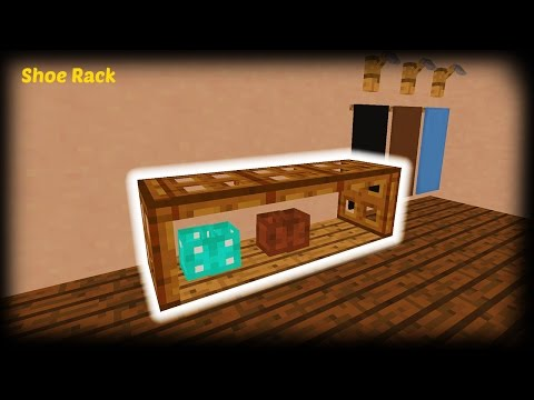 Minecraft - How to make a Shoe Rack