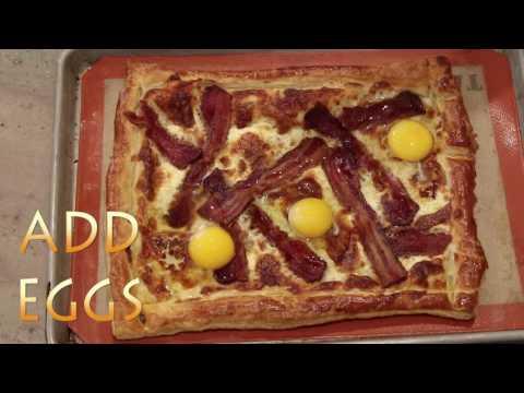 Bacon Egg and Gruyere Breakfast Tart