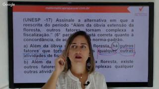 Português - Concordância Verbal e Nominal - Banca VUNESP - Professora Débora Kelmer