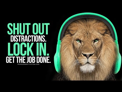 If You Want To Succeed You Must Shut Out The Distractions! Motivational Speech