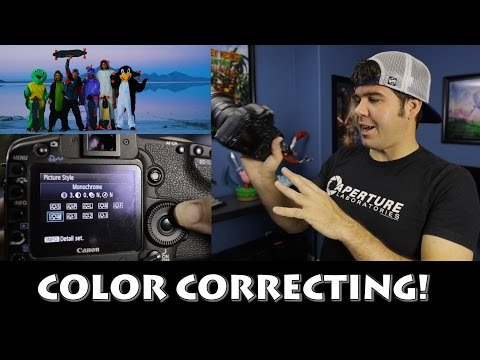 Color Correcting In Camera Tutorial! Picture Style!