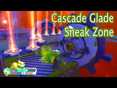 Skylanders Swap Force - Cascade Glade - Sneak Swap Zone with Stink Bomb