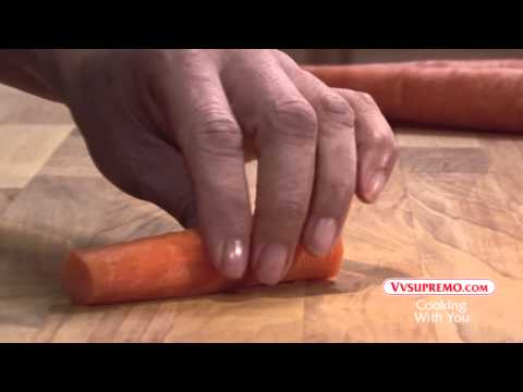 How to cut carrots into sticks