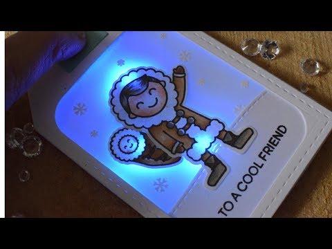 Cool Friend - Light Up Christmas Tag ft Chibitronics & Heffy Doodle