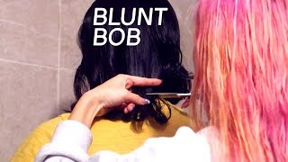 Download easiest way to cut a bob (on my sister in law); her staple haircut for 3 years Video