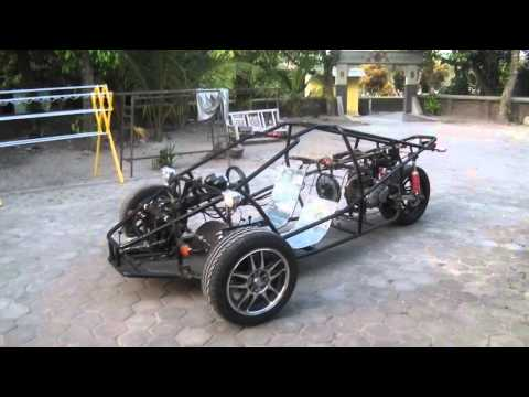 Rotate View T-Rex Motorcycle Replica Indonesia Frame+Engine