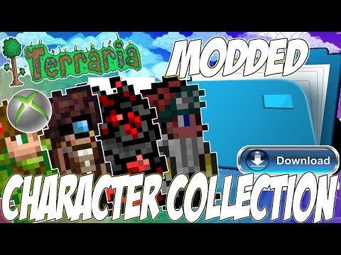 Xbox Terraria 1.2.4.1 (MODDED CHARACTER COLLECTION) /