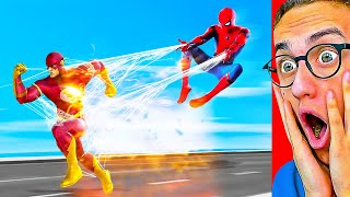 Reacting To MARVEL vs. DC SUPERHERO ANIMATION! (Spiderman, Flash, Batman and MORE!)