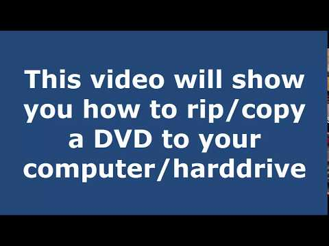 How to Rip a DVD to your Computer